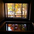内風呂(檜ぶろ)からの景色